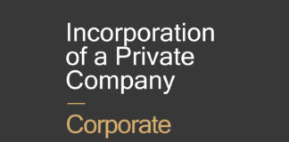 Incorporation of a Private company